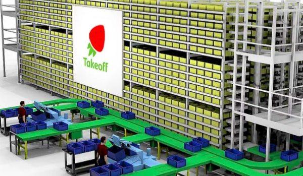 ネットスーパーで受注した商品を自動仕分けするフルフィルメントセンターが米国で開設