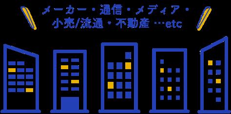 メーカー・通信・メディア・小売/流通・不動産…etc