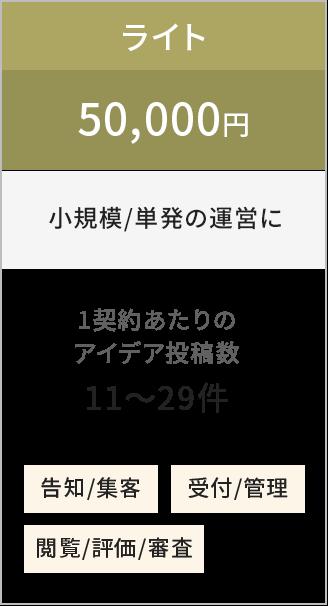 ライト5万円から(小規模/単発の運営に)